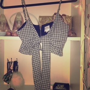 Princess Poly cropped checkered top